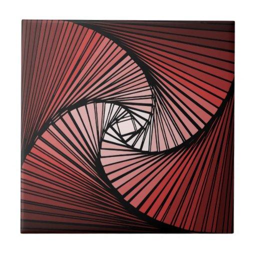 3 dimensional spiral ceramic tiles