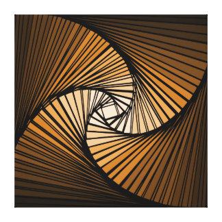 3 dimensional spiral orange canvas prints