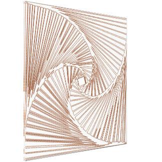 3 dimensional spiral skeleton canvas prints
