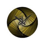 3 dimensional spiral yellow round wallclock