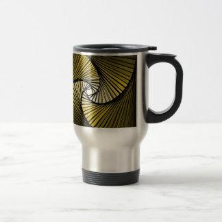 3 dimensional spiral yellow travel mug