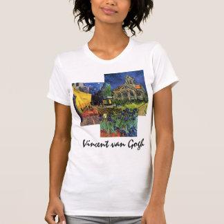 3 diversas pinturas famosas de Van Gogh del vintag Camiseta