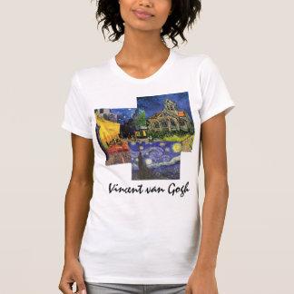 3 diversas pinturas famosas del arte de Van Gogh d Camiseta