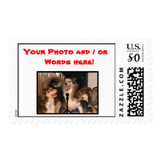 3 Dogs Singing - Customize This Stamp! Postage