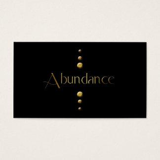 3 Dot Gold Block Abundance & Black Background Business Card