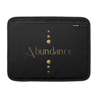 3 Dot Gold Block Abundance & Black Background Sleeves For MacBook Air