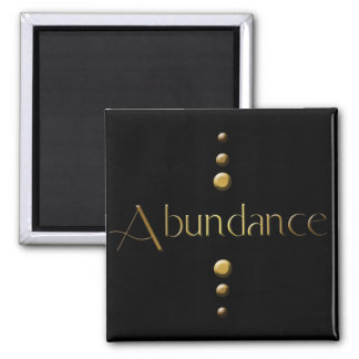 3 Dot Gold Block Abundance & Black Background Magnet