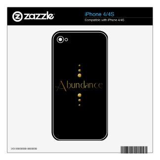 3 Dot Gold Block Abundance & Black Background Skin For The iPhone 4S