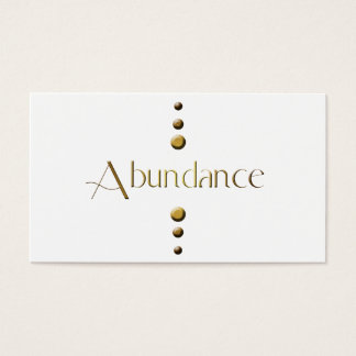 3 Dot Gold Block Abundance Business Card