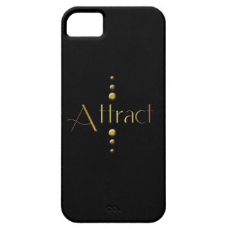 3 Dot Gold Block Attract & Black Background iPhone SE/5/5s Case