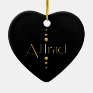 3 Dot Gold Block Attract & Black Background Christmas Tree Ornaments