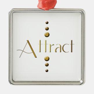 3 Dot Gold Block Attract Ornament