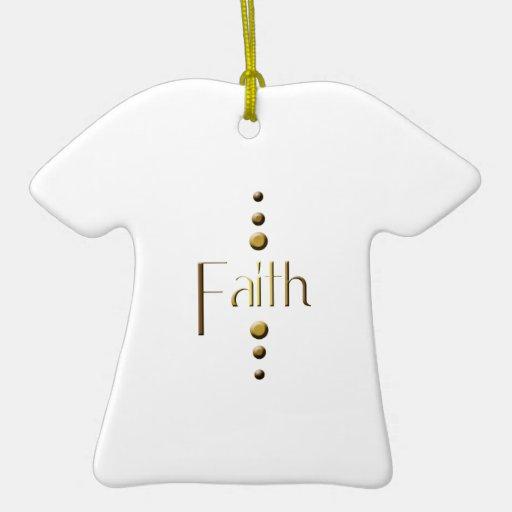 3 Dot Gold Block Faith Christmas Tree Ornaments