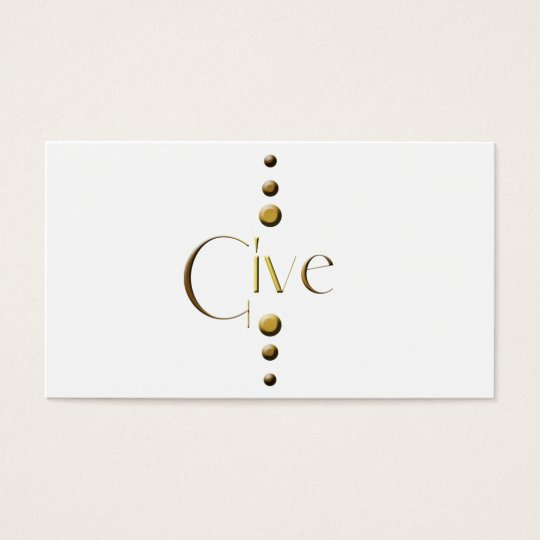 3 Dot Gold Block Give Business Card
