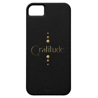 3 Dot Gold Block Gratitude & Black Background iPhone SE/5/5s Case