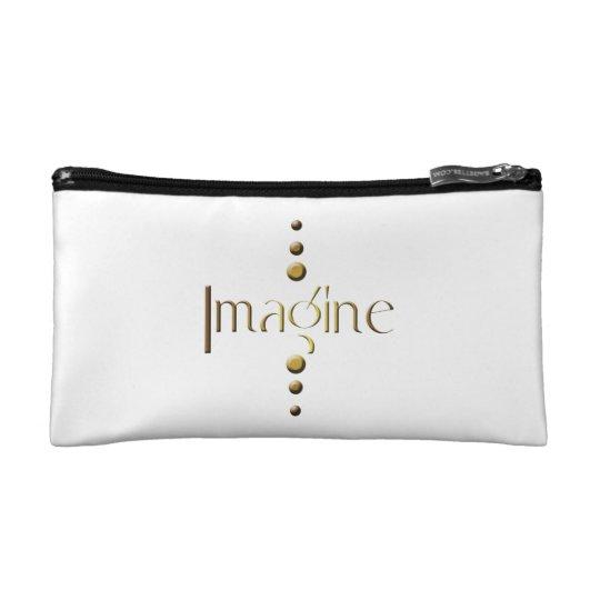 3 Dot Gold Block Imagine Makeup Bag