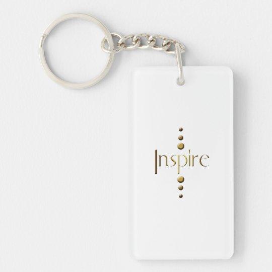 3 Dot Gold Block Inspire Keychain