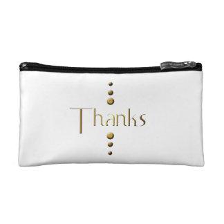 3 Dot Gold Block Thanks Makeup Bag