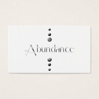 3 Dot Silver Block Abundance Business Card