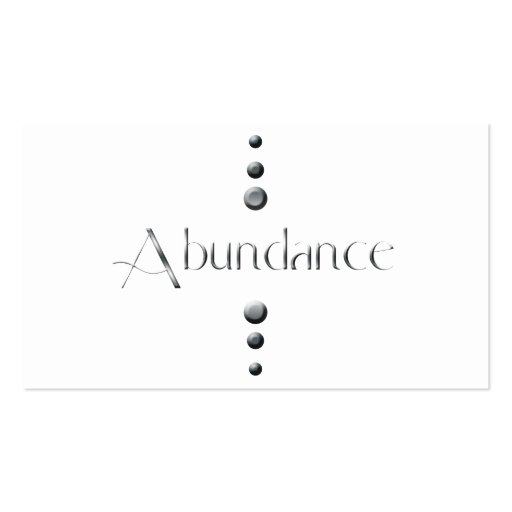 3 Dot Silver Block Abundance Double-Sided Standard Business Cards (Pack Of 100)