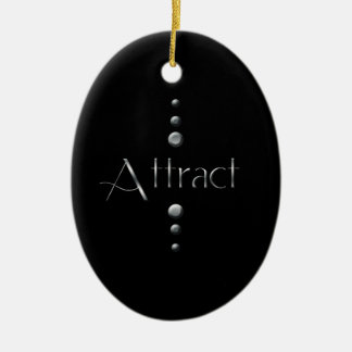 3 Dot Silver Block Attract & Black Background Christmas Ornaments