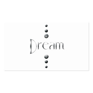 3 Dot Silver Block Dream Double-Sided Standard Business Cards (Pack Of 100)