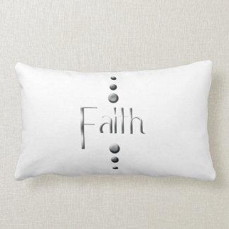 3 Dot Silver Block Faith Lumbar Pillow