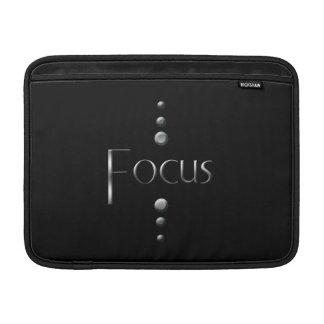 3 Dot Silver Block Focus & Black Background MacBook Air Sleeve