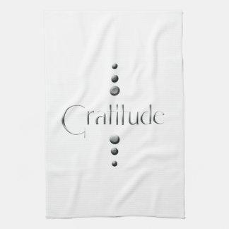 3 Dot Silver Block Gratitude Hand Towel