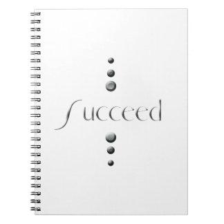 3 Dot Silver Block Succeed Spiral Notebook