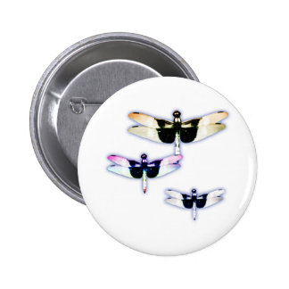 3 dragonflies button