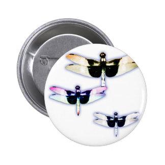 3 dragonflies pinback button