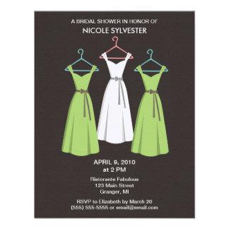3 Dresses Bridal Shower Invitations