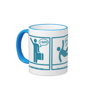 3 Easy steps to early retirement - light blue Coffee Mugs