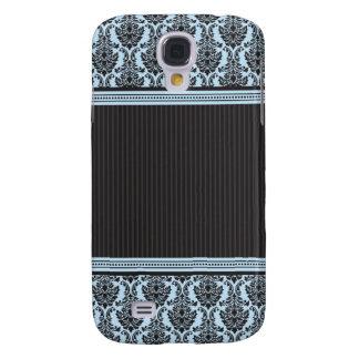3 Elegant Damask Blue/Black Samsung Galaxy S4 Cover