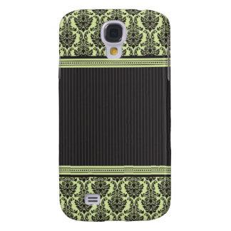 3 Elegant Damask Green/Black Samsung Galaxy S4 Case