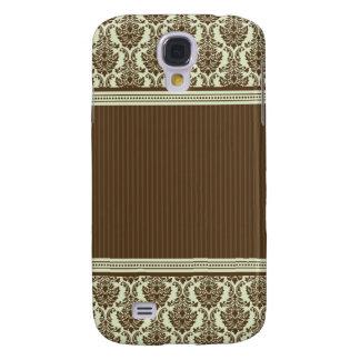 3 Elegant Damask Green/Chocolate Galaxy S4 Case