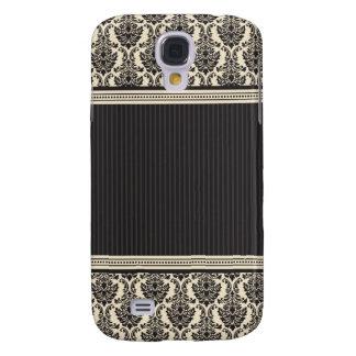 3 Elegant Damask Ivory/Black Galaxy S4 Cover