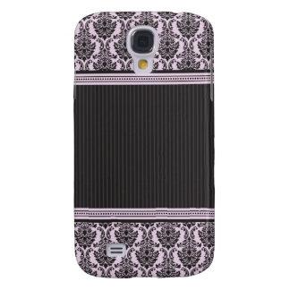 3 Elegant Damask Lilac/Black Galaxy S4 Cover