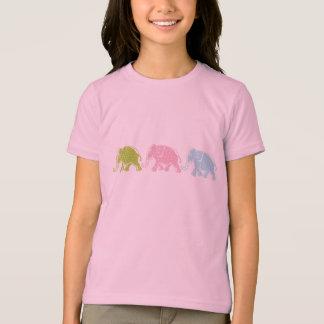 3 Elephants Girls Ringer T-Shirt