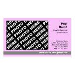 3 en 1 gris del rosa de la tarjeta del calendario tarjetas de visita