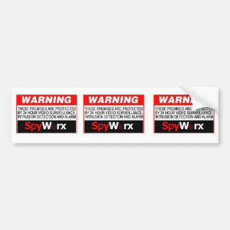 ¡3 en 1 pegatina falso del sistema de alarma para  pegatina de parachoque