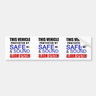 ¡3 en 1 pegatina falso del sistema de alarma para  etiqueta de parachoque