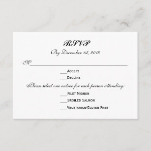 wedding rsvp response cards zazzle