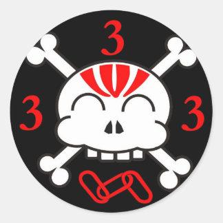 3 es pegatina del número mágico