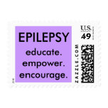 3 e's under EPILEPSY Postage