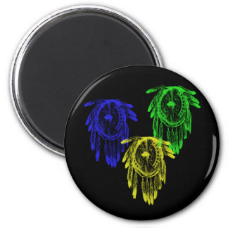 3 escudos tribales de la guerra del nativo america imán redondo 5 cm
