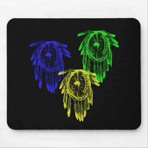 3 escudos tribales de la guerra del nativo america tapete de ...