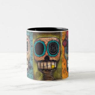 3 esqueletos tazas de café