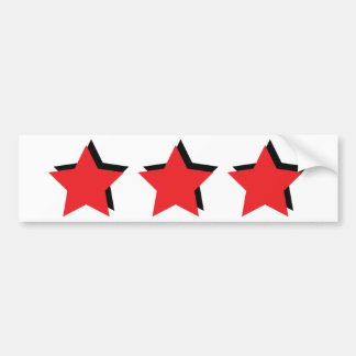 3 estrellas rojas de lujo pegatina para auto